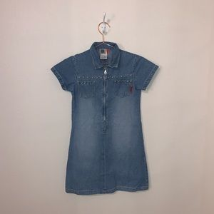Vintage Denim Dress with studs